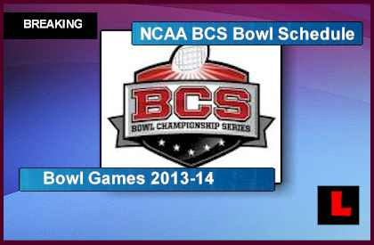 2013 BCS Bowl Schedule Reveals NCAA college Football Bowl Games 2013-14 announcement selection show results