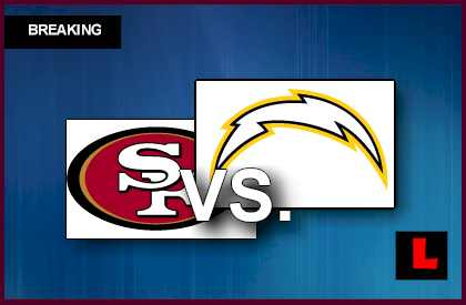 49ers vs. Chargers 2013 Prompts Late Night Games live score results today