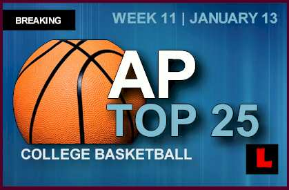 AP Top 25 NCAA College Basketball 2014 Rankings Debuts Week 11 January 13, 2014 standings today 1-13-14