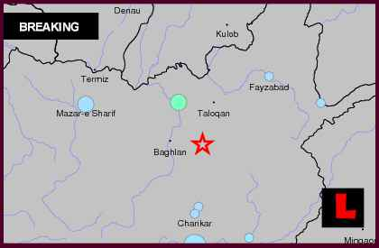 Afghanistan Earthquake Today 2012 Strikes Kabul and Tajikistan