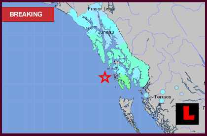 Alaska Earthquake Today 2013 Strikes Canada