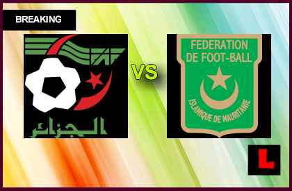 Algeria vs. Mauritania 2013 Battles in International Friendly en vivo live score results today