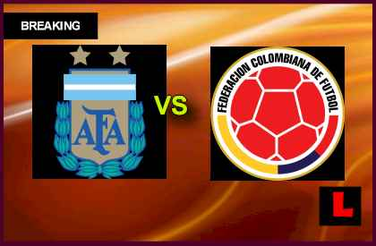 Argentina vs. Colombia 2013 Battles for WC Qualification en vivo live score results today