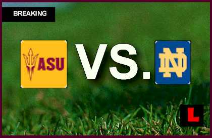 notre dame game score live who plays tonight in college football