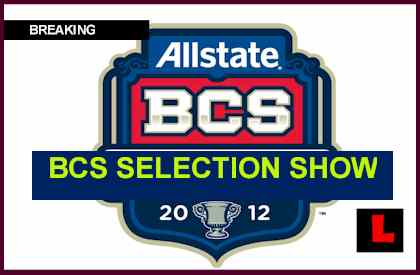 BCS Selection Show 2011 Results Announce Complete Bowl Games Lineup