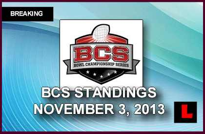 BCS Standings 2013: NCAA College Football Poll Rankings Unveil Week 11