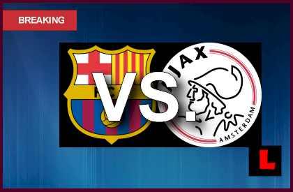 Barcelona vs. Ajax 2013 Battles in UEFA Champions League en vivo live score results today