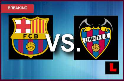 Barcelona vs. Levante 2013: Messi, Sanchez Score Early Today en vivo live score results today