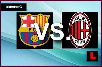 Barcelona vs. Milan 2013 Score Heats up UEFA Champions League en vivo live score results today