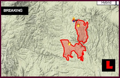 Bonita Complex and Miller Homestead Fires Battle Containment map wildfires
