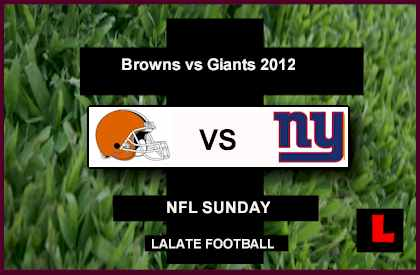 score live Browns vs Giants 2012: Eli Manning Hopes to Extend Winning Streak