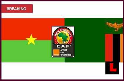results score live Burkina Faso vs. Zambia 2013 Battle in Africa Cup of Nations