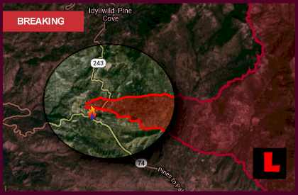 Mountain Center Fire Map 2013: Riverside Fire Reaches 25% Containment