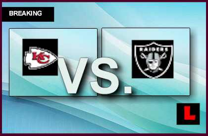 Chiefs vs. Raiders 2013 Prompts Score Battle in Fourth Quarter live score results channel today game