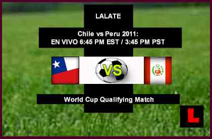 Chile vs Peru 2011 Copa Mundial Qualifier Renews Summer Showdown