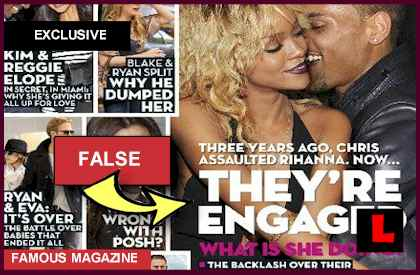Chris Brown and Rihanna Engaged? Magazine Cover is False: EXCLUSIVE