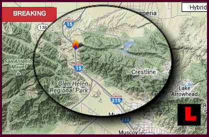 Cleghorn Fire Map 2013 San Bernardino CA Fire Hits Cajon Pass