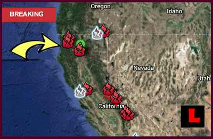 Clover Fire Map 2013: Happy Valley Fire Grows Near Redding