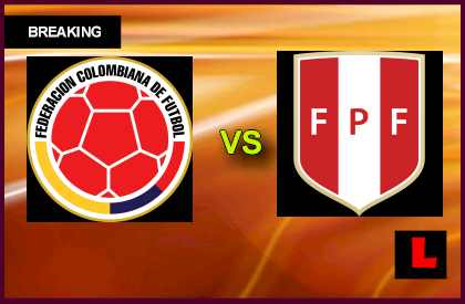 Colombia vs. Peru 2013 Delivers Copa Mundial Qualifier en vivo live score results today