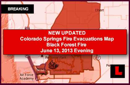 Colorado Springs Fire Map Evacuations Prompt Black Forest Fire Concerns