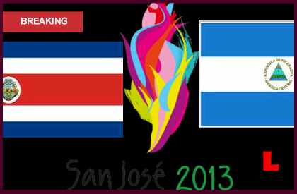 en vivo live score results Costa Rica vs Nicaragua 2013 Prompts Juegos Centroamericanos Showdown