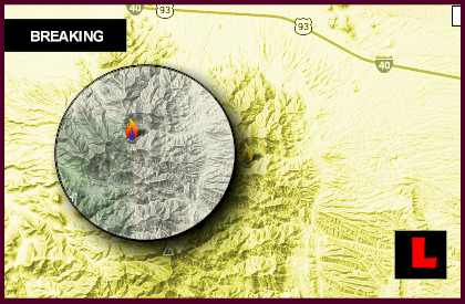 Dean Peak Fire Map 2013: Wildfire Expands Toward Kingman, Arizona