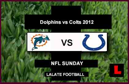 football score dolphins vs Colts 2012: Tannehill Faces Luck Sunday