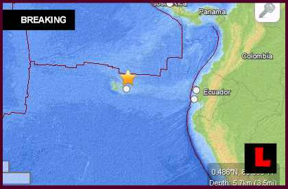 Ecuador Earthquake Today 2013: 5.2 Terremoto Strikes Off Coast
