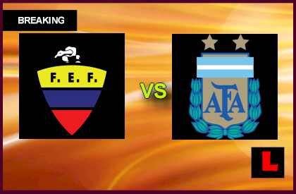 Ecuador vs. Argentina 2013 Prompts Soccer Score Showdown en vivo live score results today
