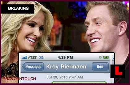 Elizabeth Seward, Kroy Biermann Texts Battle Kim Zolciak
