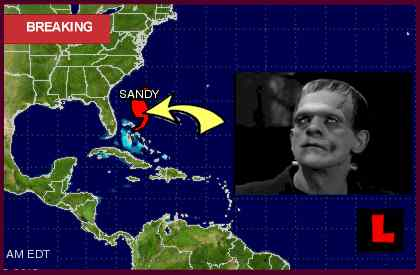 Frankestorm Hurricane Sandy Path Delivers Halloween Tracking Trick