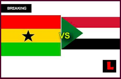 en vivo live score results today Ghana vs. Sudan 2013: Gyan and Mubarak Strikes