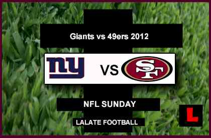 score live Giants vs 49ers 2012: Eli Manning Battles Alex Smith
