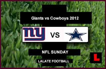 score live Giants vs. Cowboys 2012: Eli Manning Takes on Tony Romo