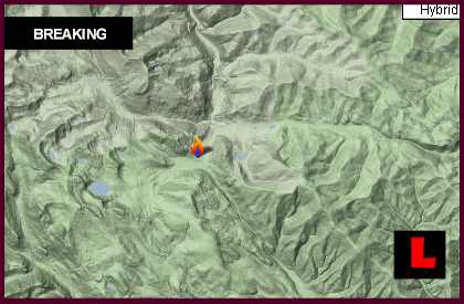 Gold Creek Fire Map 2013: Missoula, Montana Wildfire Remains Active
