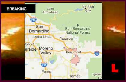Highland Fire Map Prompts Beaumont, California Wildfire Concerns