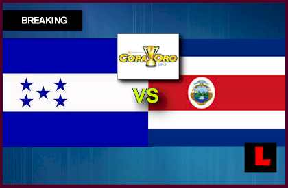 Honduras vs. Costa Rica 2013 Copa Oro Soccer Game Battles Sunday en vivo live score results today