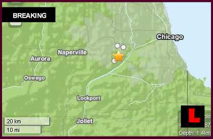 Illinois Earthquake Today 2013 Strikes West of Chicago