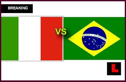 en vivo live score results Italy vs Brazil 2013 Battles in Soccer International Friendly