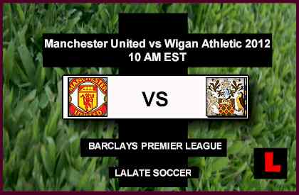 live score Manchester United vs Wigan Athletic 2012: Robin Van Persie Seeks Another Win