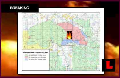 Montana Wildfires Map 2012 Prompts New Ash Creek Complex Fire Concern