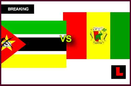 en vivo live score results today Mozambique vs. Guinea 2013 Seeks World Cup Bid