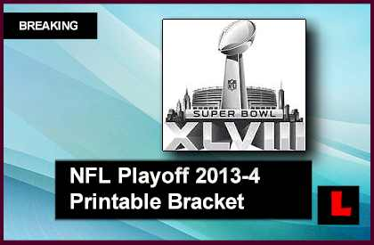 2013 2014 NFL Playoff Bracket