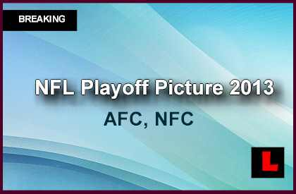 NFL Playoff Picture 2013 Today Reveals AFC, NFC Standings Predictions