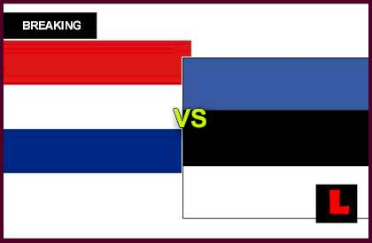 en vivo live score results today Netherlands vs. Estonia 2013 Heads Back to UEFA Group 4