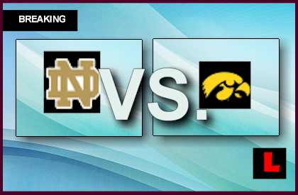 tv football schedule for today notre dame live score