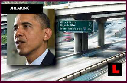 Obama L.A. May 10, 2012 Visit Prompts Road Closures, Traffic
