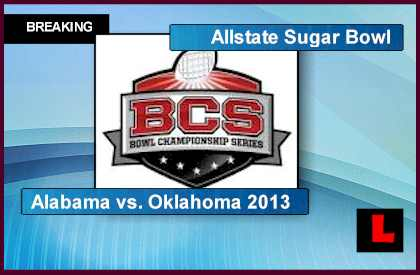 Alabama vs. Oklahoma 2013 Score Heats Up Sugar Bowl live score results tonight