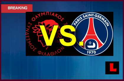 Olympiakos Piraeus vs. PSG 2013 Prompts Soccer Battle Today en vivo live score results today