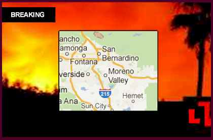 Panorama Fire Map 2012 Reveals San Bernardino, California Threat
